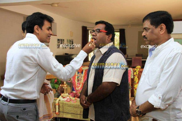 Puneet Rajkumar and Mohan Lal New Movie Launch Image