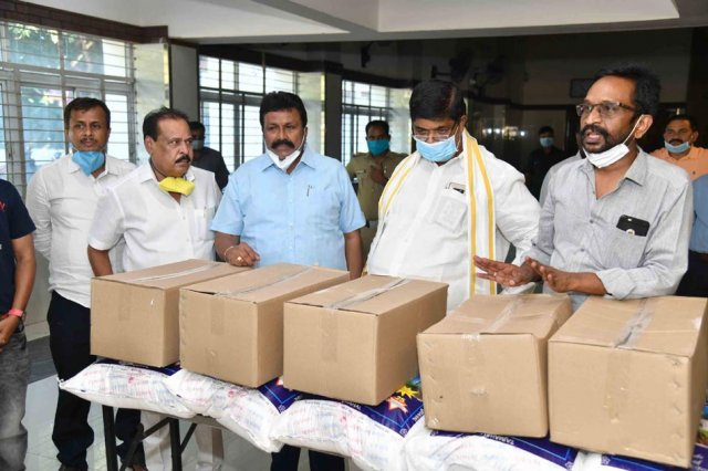 Food Kits Distribution To Media Personnel By Ministers