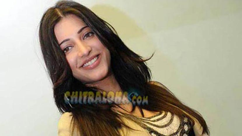 shruthi hassan not acting in kannada