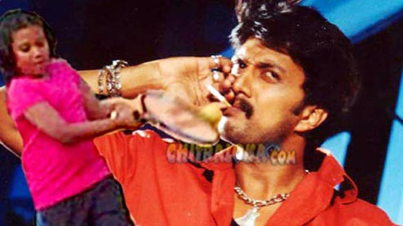 sudeep smoking image