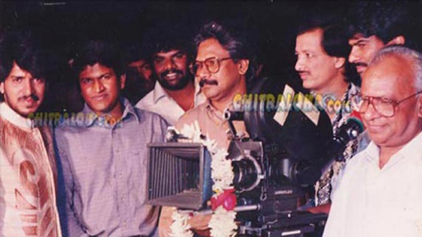 a movie launch - upendra, puneet rajkumar manirathnam, kashinath, sp varadaraju