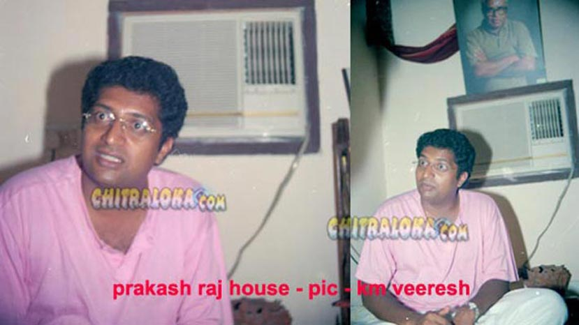 prakash raj and uday (not in pic) at his house in chennai (pic km veeresh)