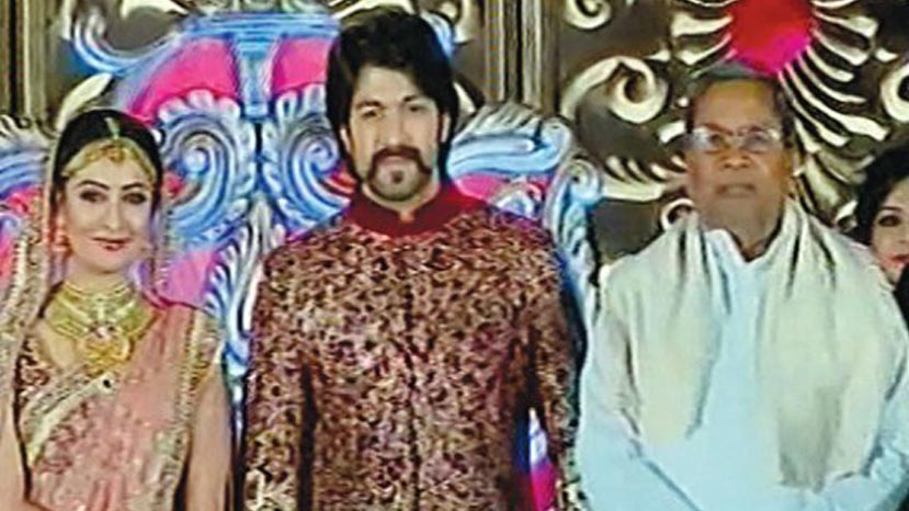 yash radhika pandit marriage image