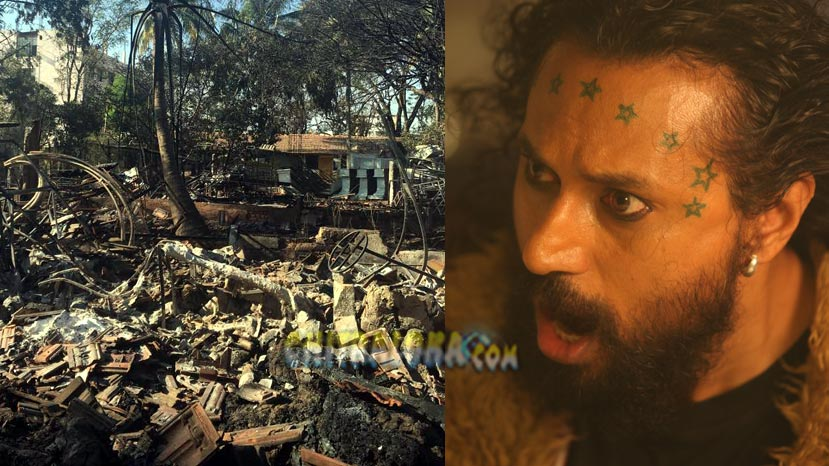 godown caught fire, arun sagar's image