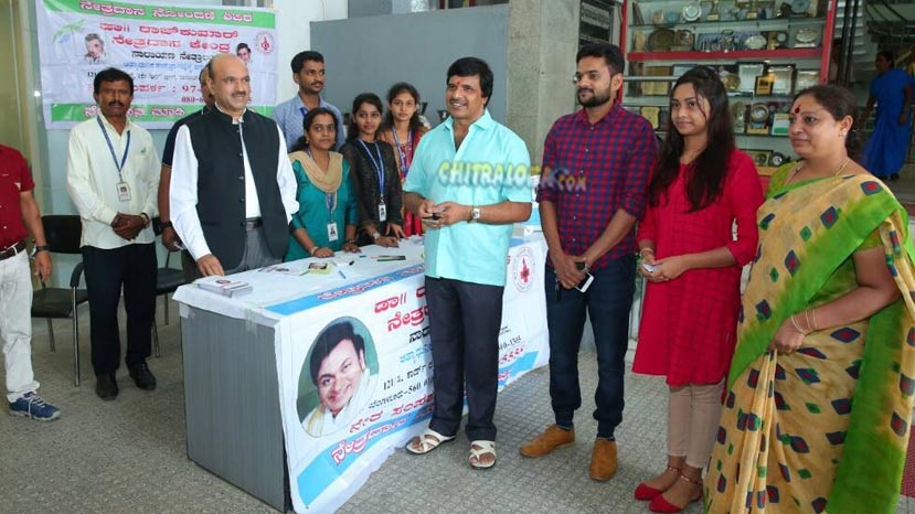 s narayan pledges eye donation