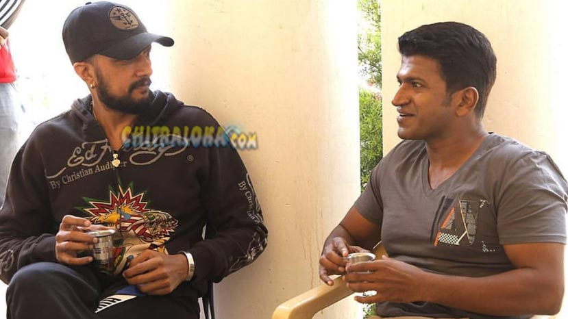 puneeth visits the villain set