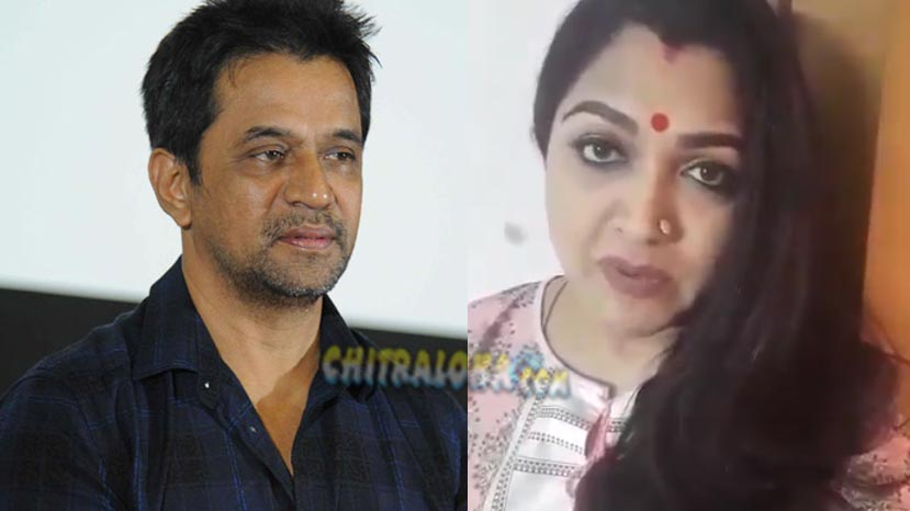 khushbhu stands with arjun sarja