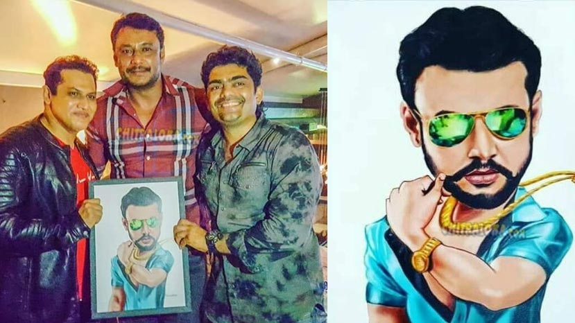 fans gives wonderfull gift to darshan