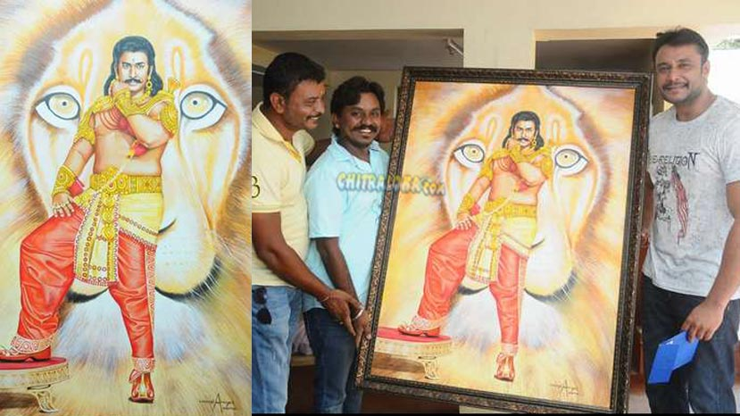 darshan gets special gift from his fan