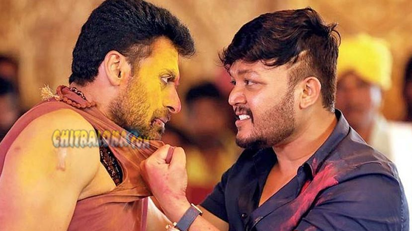 ganesh fights with magadheera villain dev gill