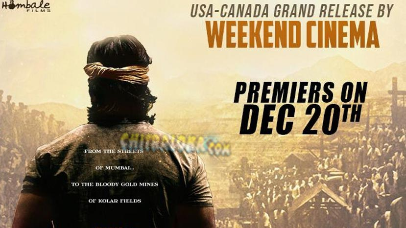 kgf to release inusa and canada one day earlier