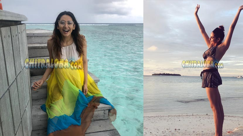 ragini at maldives