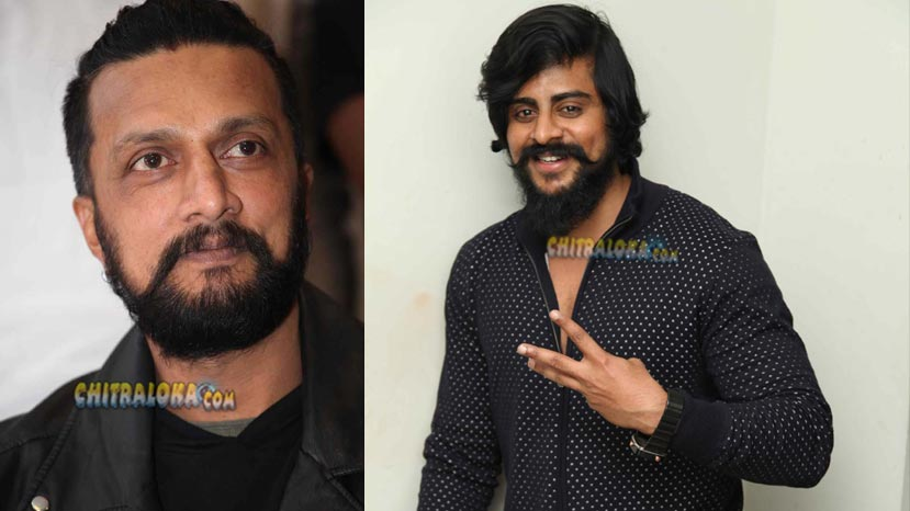 sudeep gives title to aru gowda