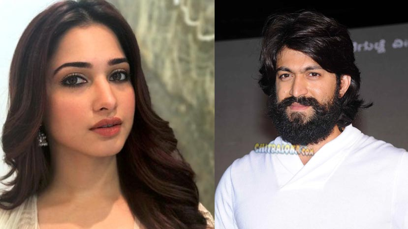tamannah to dance for kgf
