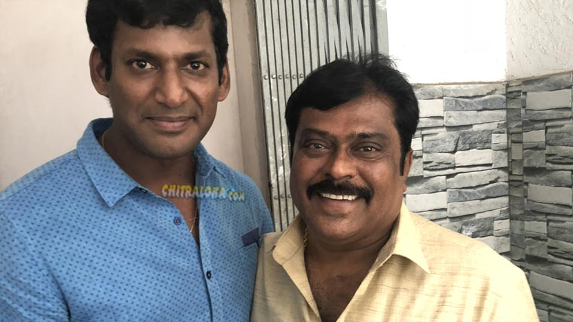 vishal offers role to producer k manju