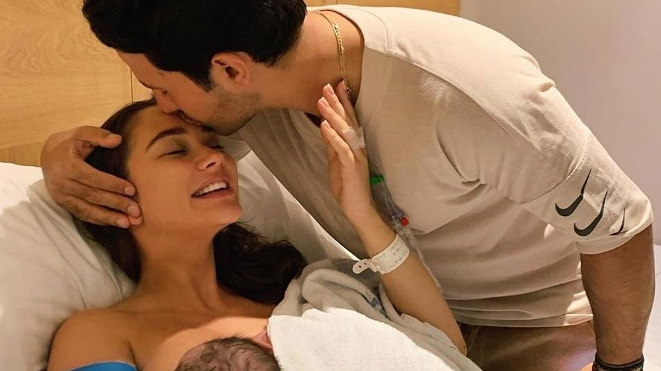 amy jackson gives birth to baby bpy