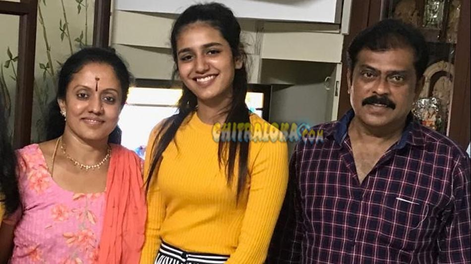 priya varrier in k manju's house
