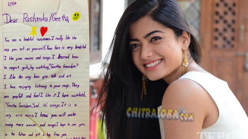 rashmika's cute fan requests for a hug