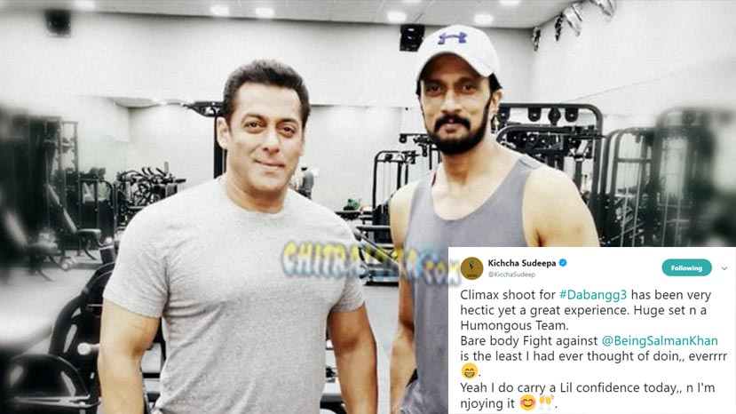 kiccha sudeep fights bare body with salman khan in dabang 3