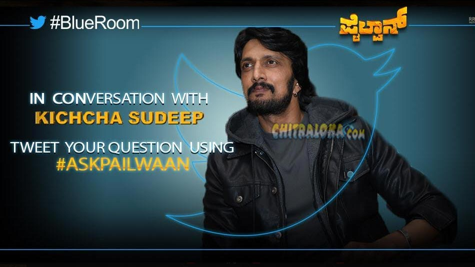 sudeep to be the first kannada actor to be at twitter live
