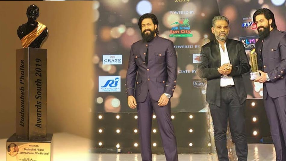 yash recieves dad saheb phalke south awards