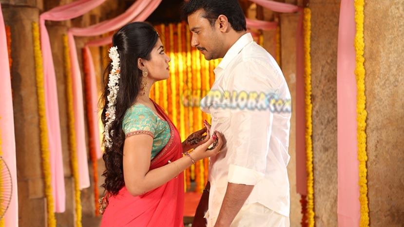 love stroy between krishna and kauveri in yajamana